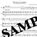 """sample preview page for the piano vocal score, """"Welcome to Los Angeles"""""""
